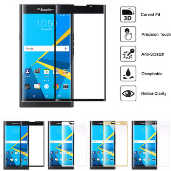 Для blackberry priv 3D Tempered Glass 9 H полное покрытие изогнутые покрытие экрана протектор Flim для BlackBerry
