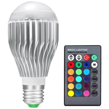 Rgb светодиодные лампы 20 Вт 85-265 В E27 rgb led лампочки 110 В 120 В 220 В LED Soptlight Дистанционное управление 16 Цвета Сменные Lamparas